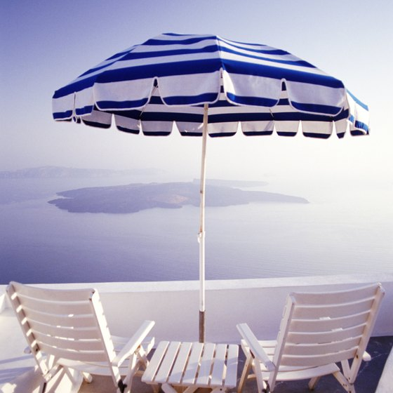 With its miles of coastline, Greece features many beaches and beautiful seaside views.