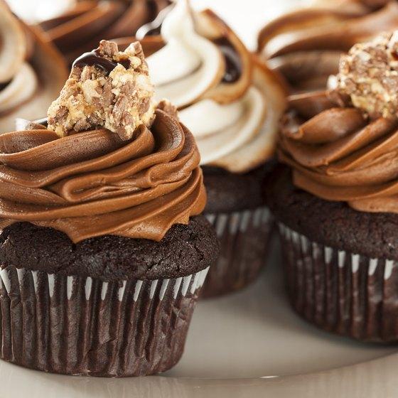 Homemade chocolate cupcakes.