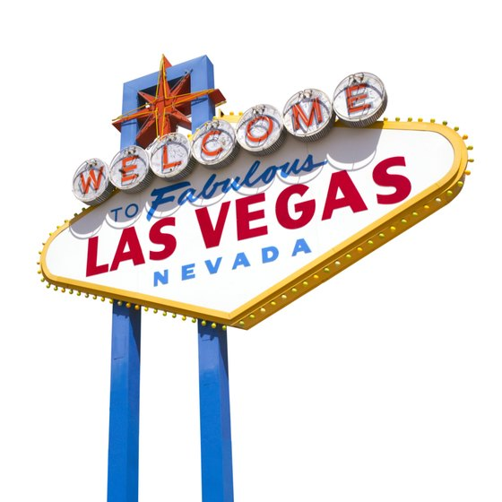 This iconic Las Vegas sign greets visitors who enter the city from the southern end of the Strip near the airport.