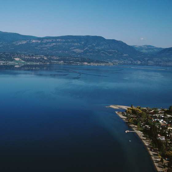 Okanagan Lake is in British Columbia's wine country.