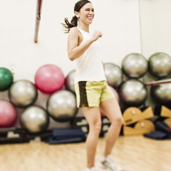 Step aerobics effectively burns fat and improves your mood.