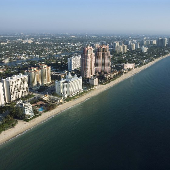Ft. Lauderdale is centrally located between Miami and Palm Beach.