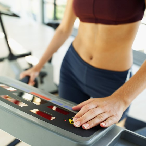 Some exercise machines estimate calories, distance and other workout statistics.