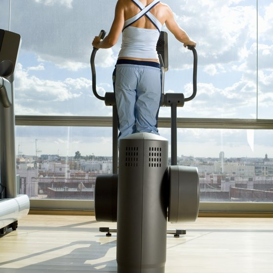 Using an elliptical trainer helps you burn calories quickly.
