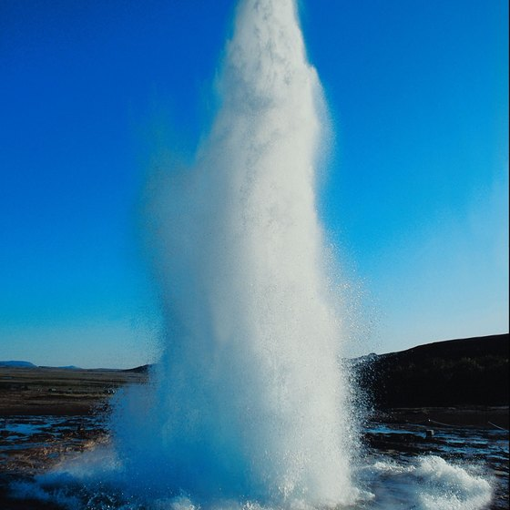 "The word geyser comes from the Icelandic word geysa, which means ""to gush."""