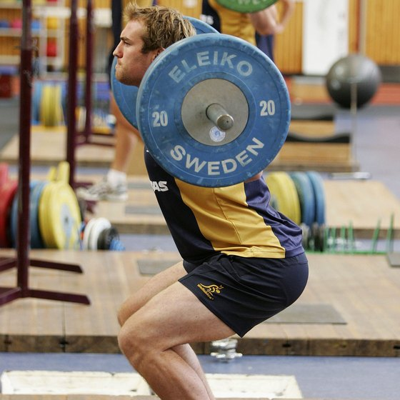 Use high rep squats to break through training plateaus.