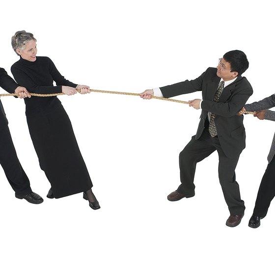 Conflict often occurs between departments.