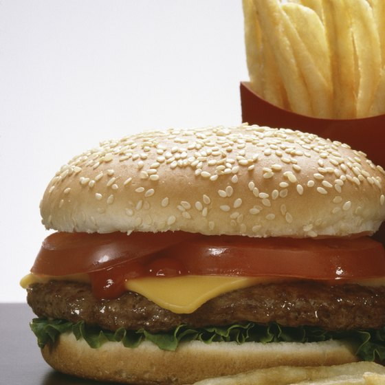 Burger chains dominate the fast food marketplace.