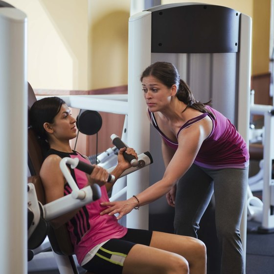Hip and shoulder abduction machines isolate joints to create a specific movement.