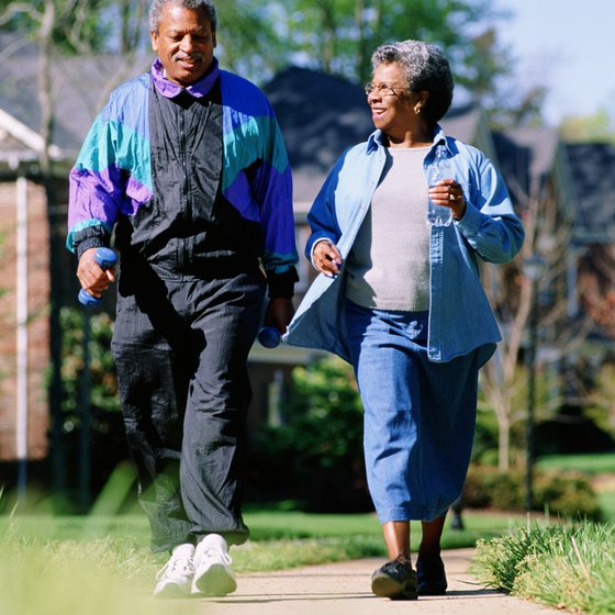 Walk for low-impact cardiovascular exercise.
