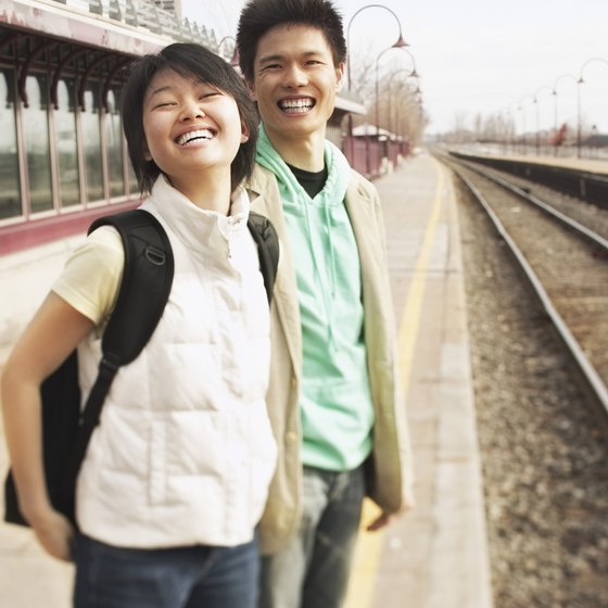 Traveling by train allows vacationers to interact safely and enjoy the scenery.