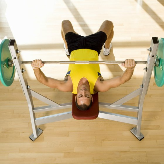Bench press exercises flatten and strengthen the chest.