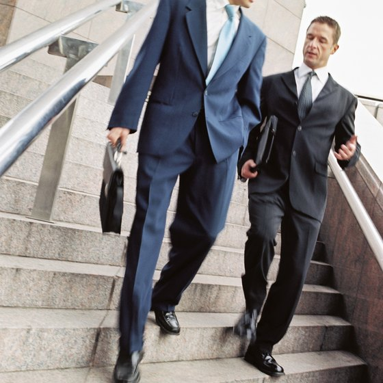 Taking the stairs can help you burn calories and lose weight.
