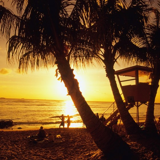A beach sunset is a must-do for a first-time visitor to Hawaii.