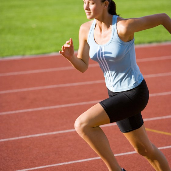 Running on the track is a great interval exercise.