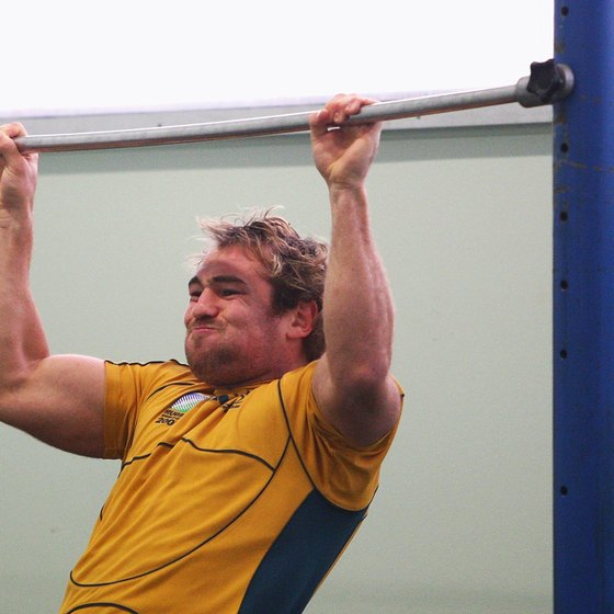 Pull-ups are a great test of upper-body strength.