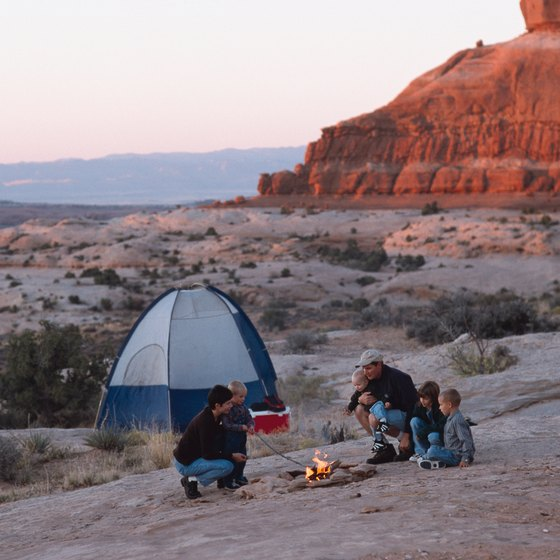 Camping opportunities abound in the colorful southern Utah desert.