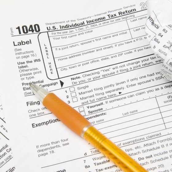 Use 1040 tax forms to report sole proprietorship profit and loss.