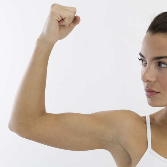 Resistance exercises will help to sculpt your upper arms.