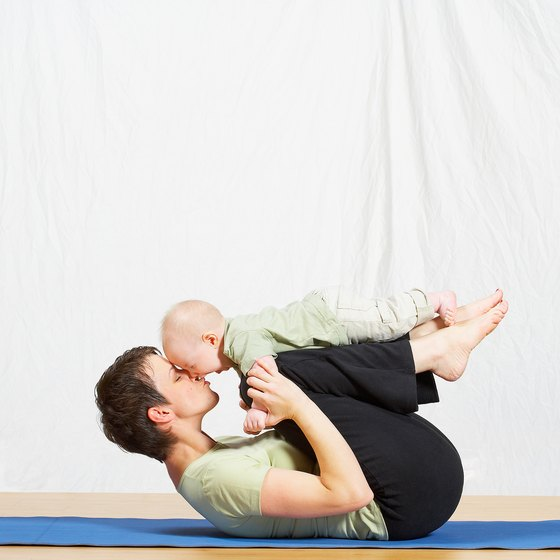 Gentle yoga poses help you get in shape after a C-section.