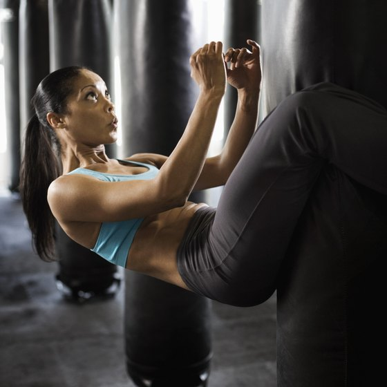 Gyms provide classes and equipment to help flatten abs.