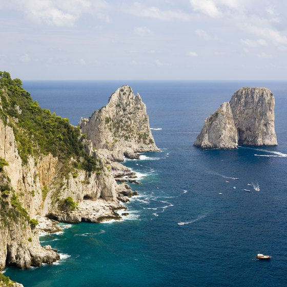 Capri is known for its dramatic coastline.