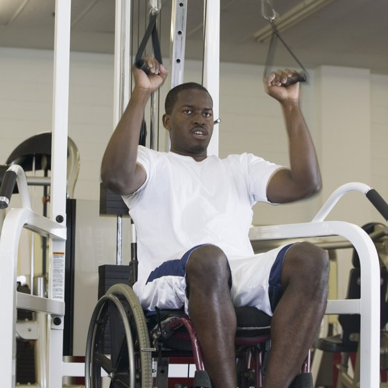 Paraplegics can benefit from weightlifting workouts.