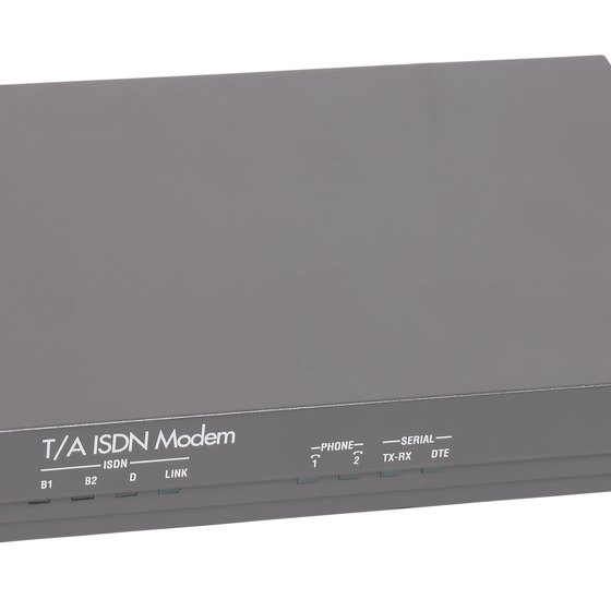 External modems have two IP addresses used to route information to and from the Internet.