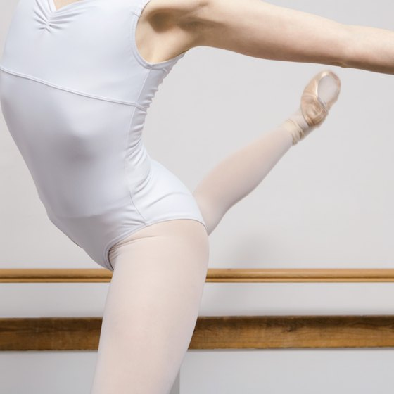 Ballet dancers have sleek middles and well-defined legs and hips.