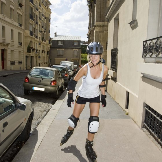 The lateral leg motion of rollerblading will build your inner thighs.