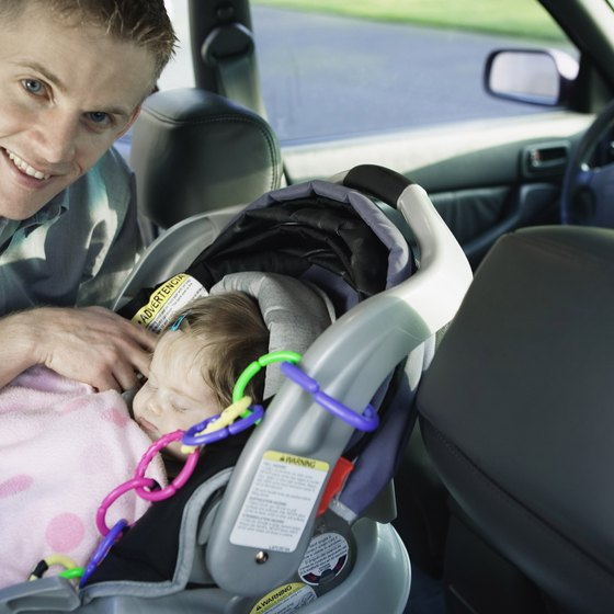 New babies can ride safely in cars.