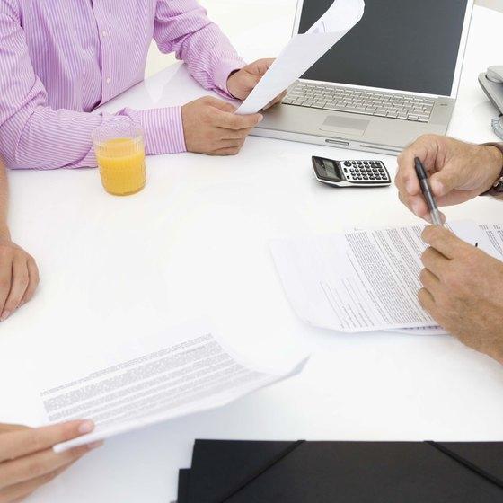 Review a balance sheet to determine a company's debt.