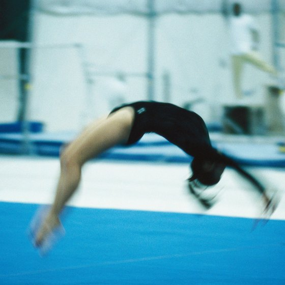 A powerful jump is key in the success of a back handspring.