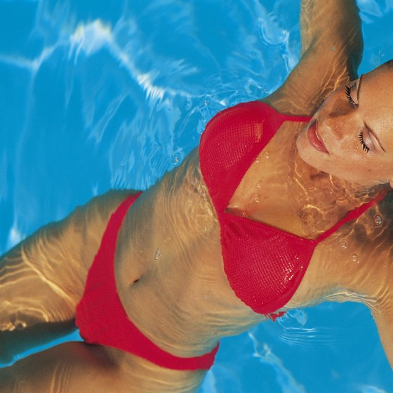 Aquatic exercise can be a great way to trim your tummy.