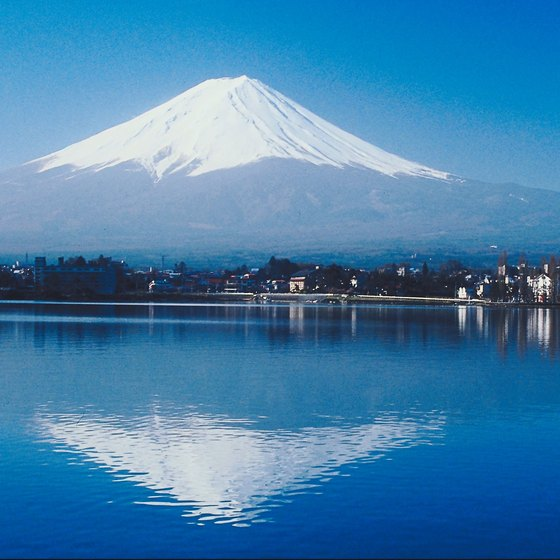 Mount Fuji is a classic symbol of Japan, standing at over 12,000 feet.