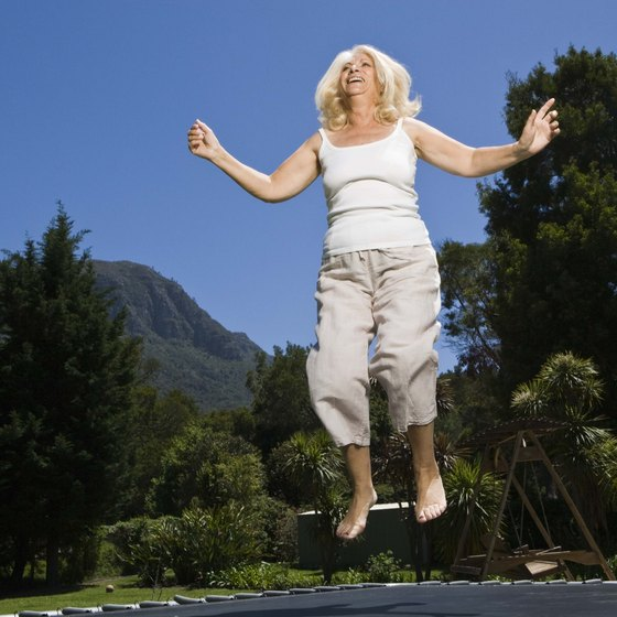 A trampoline works your lower body and heart.