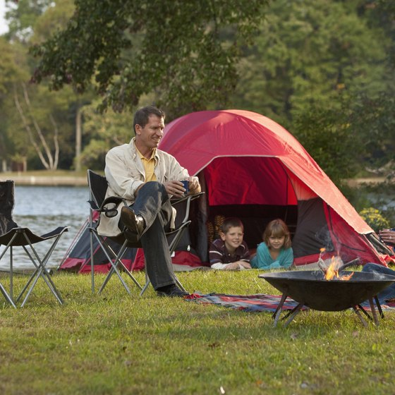 Camping is available at several locations near Talladega, Alabama.