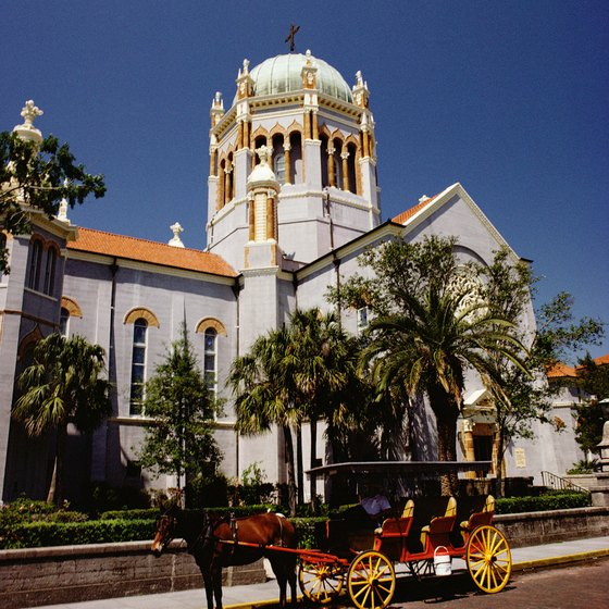 Enjoy a different perspective of St. Augustine by taking a horse-drawn carriage tour.