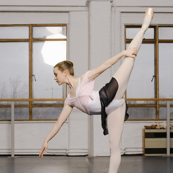 Dancers need extreme control for center exercises.