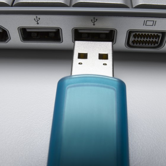 You can use flash drives to back up photos, movies, music or files.