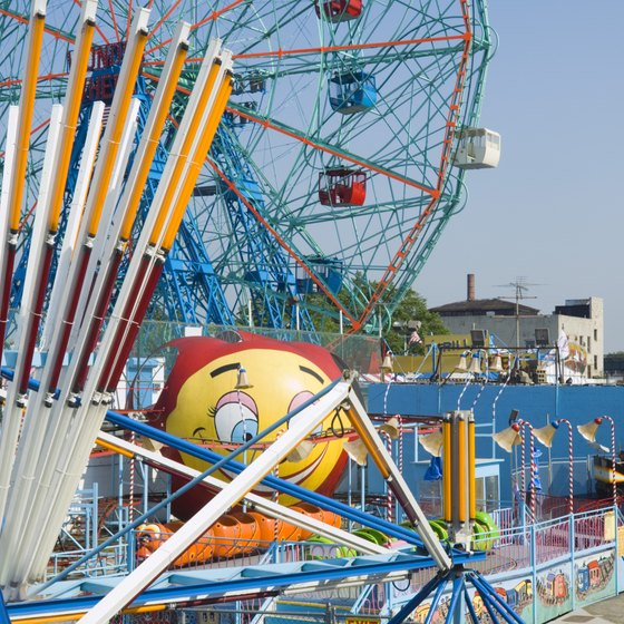 Coney Island's amusement park is a popular family attraction in New York City.