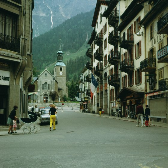 The town of Chamonix is the gateway to Mont Blanc in France.