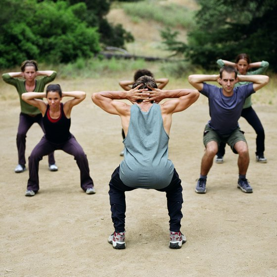 Boot camp workouts build strength and endurance.