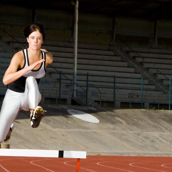 Hurdles and ladders are used in plyometrics agility drills.