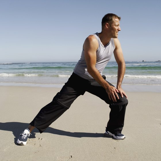 Lunge in the direction of your pointed foot.