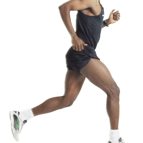 Warming up before running reduces risk of injury.