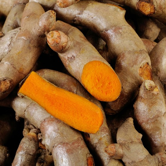A pile of turmeric roots.