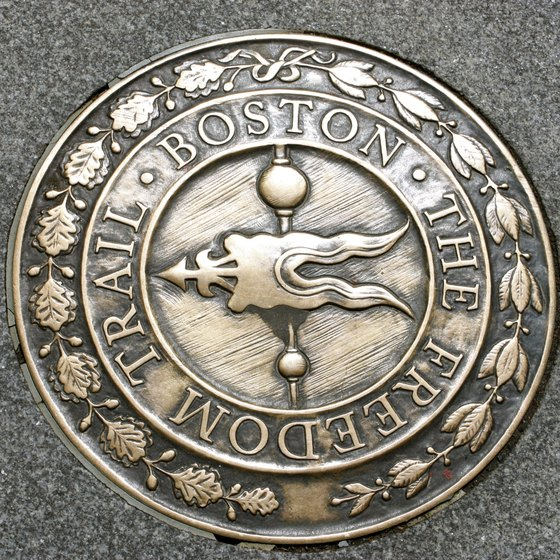 Watch for the medallions in the sidewalk along the Freedom Trail.