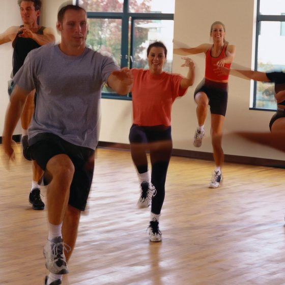 A vigorous aerobics class burns more calories than the trampoline.