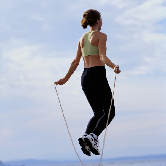 Jump ropes are typically measured according to their length.